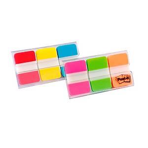 Index Post-it® Rigide 686PGO,  25x38mm, dévidoir avec 3 couleurs néon