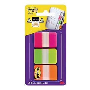 Zakładki indeksujące Post-it® STRONG, 3 neonowe kolory, w opakowaniu 66 sztuk