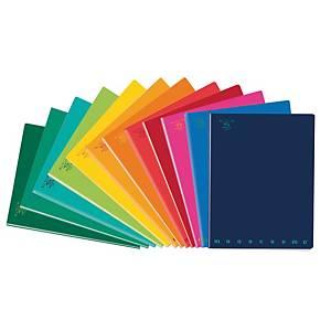 Quaderno Pigna Monocromo Standard 15 x 20,3 cm quadretti 4 mm colori assortiti