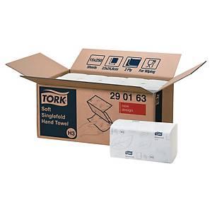 Pack de 15 paquetes de toallas secamanos Tork H3 - 250 hojas - W - 2 capas
