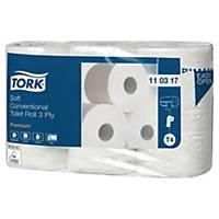 Toalettpapir Tork T4 Premium Ekstra Soft, 3-lags hvit, sekk à 42 ruller