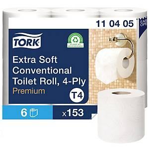 Toilettenpapier Tork Premium, 4-lagig, Packungà 6 Rollen