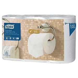 Papier toilette Tork Extra Soft pour T4 - 4 plis - 6 rouleaux