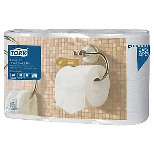 TORK PREMIUM 110405 TOILET PAPER ROLLS EXTRA SOFT T4 - PACK OF 6