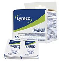 Renseservietter Lyreco, pakke a 50 stk.