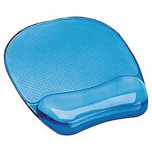 Tapete para rato com apoio de pulsos Fellowes Gel Crystal - azul