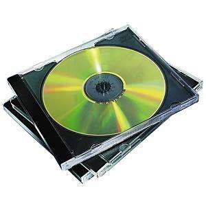 Boîtiers vierges pour CD/DVD Fellowes, jewel cases, paq. 10unités