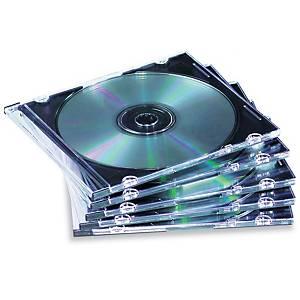 CD-kotelo slim ohut kirkas, 1 kpl=25 koteloa