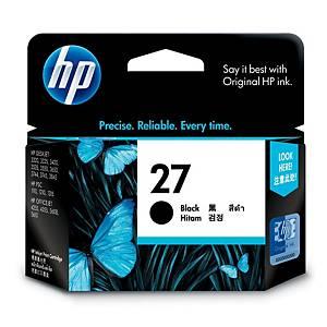 HP ตลับหมึกอิงค์เจ็ท HP27 C8727AA สีดำ