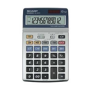 Calculatrice de bureau Sharp EL-337C, affichage de 12chiffres, argenté