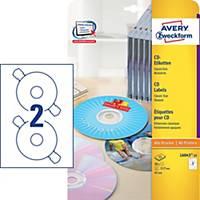 Avery címke CD-lemezekhez, L6043-25, 25 hárkov, 50 címke/csomag