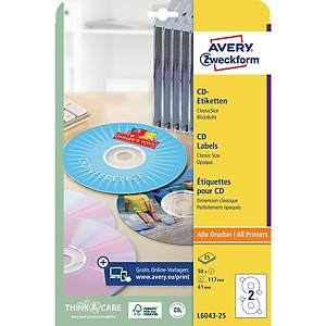 Avery Afterburner Classic Laser Cd/Dvd Labels - Box Of 50
