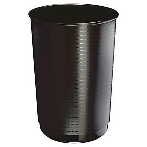 Corbeille à papier ronde Cep Maxi en plastique, 40 l, noire