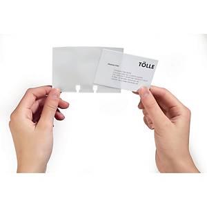 Recharge de pochettes Durable pour support à cartes de visite, les 40 pochettes