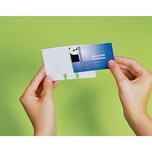 Durable Visifix pótzsebek forgatható névjegykártyatartó számára, 40 darab/csomag