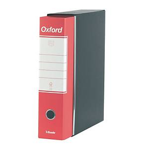 Registratore a leva Esselte Oxford cartone dorso 8 cm commerciale rosso