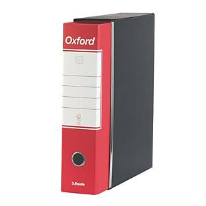 Registratore a leva Esselte Oxford cartone dorso 8 cm protocollo rosso