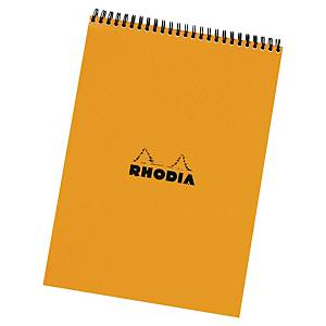 Bloc-notes Rhodia - A4+ - spirales - 160 pages - blanc quadrillé