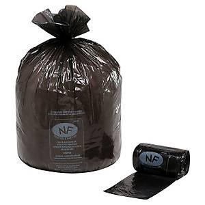 Sac poubelle économique - 30 L - 13 microns - noir - 1000 sacs