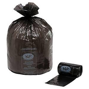 Sac poubelle économique - 50 L - 16 microns - noir - 500 sacs