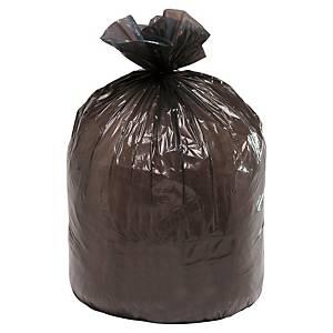 Sac poubelle pour déchets lourds - 100 L - 45 microns - gris - 200 sacs