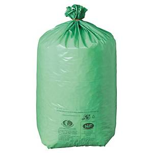Sac poubelle Green - NF Environnement - 110 L - 42 microns - vert - 200 sacs