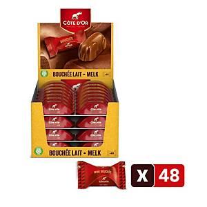 Côte d Or Bouchée melkchocolade, pak van 48 stuks