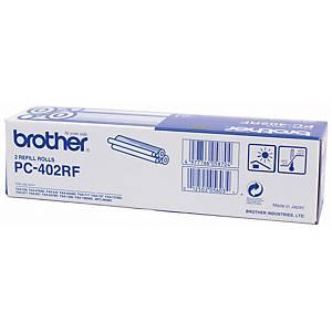 BROTHER PC-402RF ORIGINAL FAX FILM BOX OF 2 ROLLS