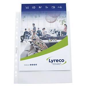 Pochette transparente extra large Lyreco, A4, PP, granulées, les 25 pièces