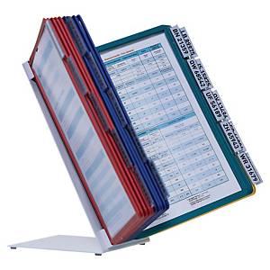 Système d'affichage Durable 5699 Vario Pro avec pied, 20 panneaux, PP, gris