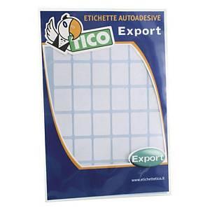 Etichette adesive multiuso Tico export E-2214 22x14 mm bianco - conf. 450