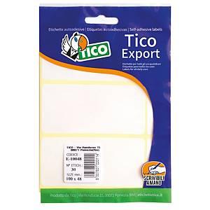 Etichette adesive multiuso Tico export E-7438 74x38 mm bianco - conf. 60