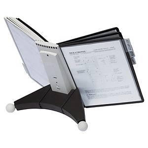 Durable 5632 Sherpa système d affichage pupitre avec 10 poches en PP noirs
