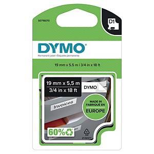 Schriftband Dymo Rhino 16956, Breite: 19mm, Polyester, schwarz/weiß