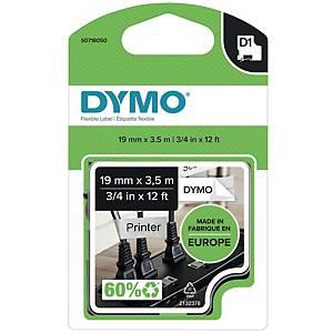 Schriftband Dymo D1 S0718050/16954, Breite: 19mm , schwarz auf weiß