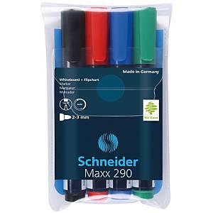 Sada popisovačov na biele tabule a flipcharty Schneider Maxx 290