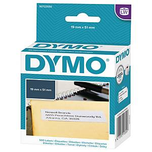 Universaletiket Dymo LabelWriter, 19 x 51 mm, rulle a 500 etiketter