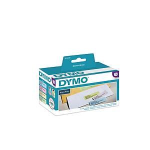 Rouleau de 130 Dymo 99011 étiquettes adresses 89x28mm assorties - boite de 4