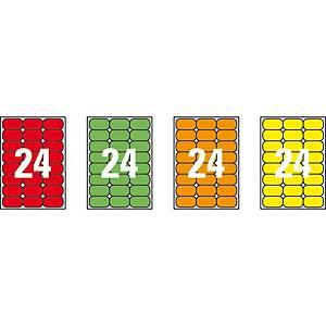 Caixa 480 etiquetas autocolantes Apli 02870-64 x 33,9 mm - amarelo fluor