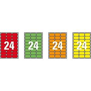 Caixa 480 etiquetas autocolantes Apli 02871-64 x 33,9 mm - laranja fluor