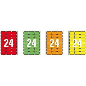 Caja de 480 etiquetas adhesivas Apli 02873 - 64 x 33,9 mm - verde  fluorescente