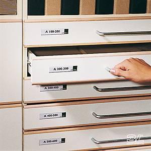 Portaetichettte adesivi l 102 x h 35 mm - conf. 12