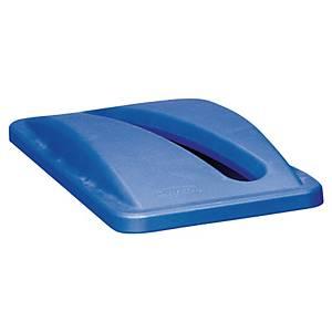 Couvercle poubelle tri sélectif Rubbermaid Slim Jim - spécial papier - bleu