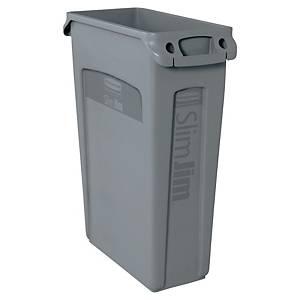 Affaldscontainer Rubbermaid Slim Jim, 87 L, grå