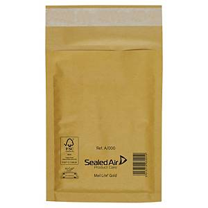 Buste a sacco imbottite Sealed Air Mail Lite® 11 x 16 cm avana - conf. 10