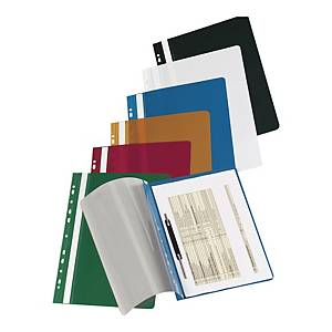 IMPEGA HARD PUNCHED FILE PVC RED