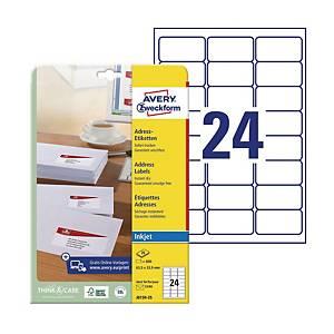 Etykiety adresowe AVERY ZWECKFORM 63,5x33,9mm, białe, 600 etykiet