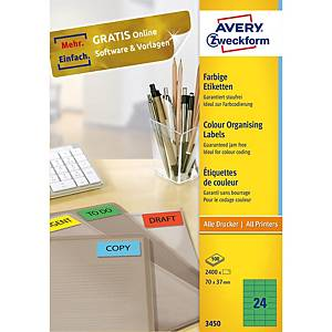 Avery 3450 Universaletiketten 70x37 mm grün