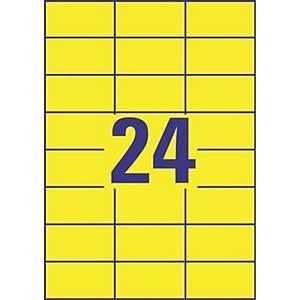 Avery 3451 monitoimitarra 70 x 37mm 24-osainen keltainen, 1 kpl=2400 tarraa