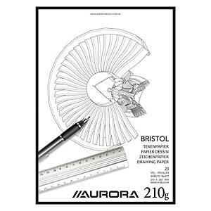 Aurora bristolkarton tekenpapier, A4, 210 g, 20 vellen